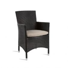 Vanna Stag Comfort Arm Chair - Black Rattan